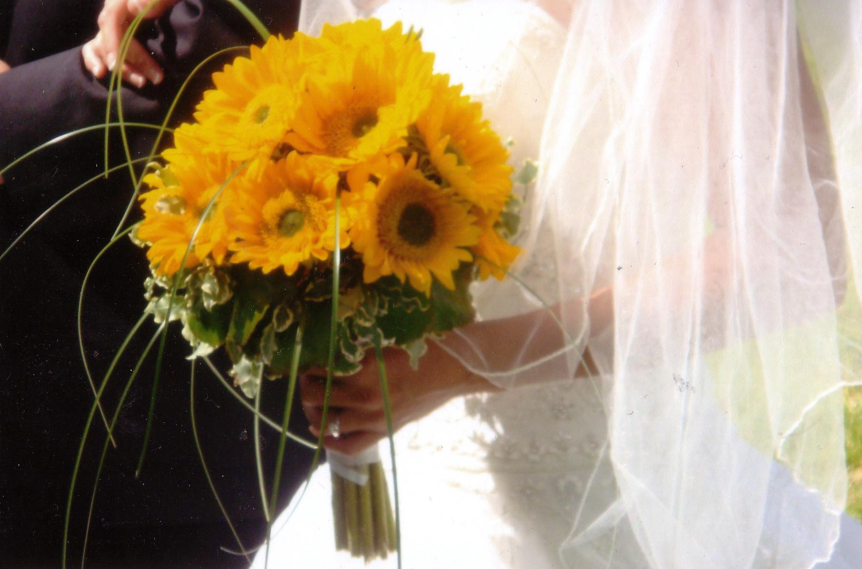 Bride with Yellow Flowers